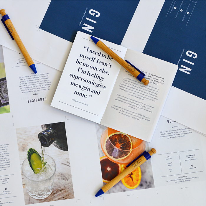 Special Projects - Gin Booklet